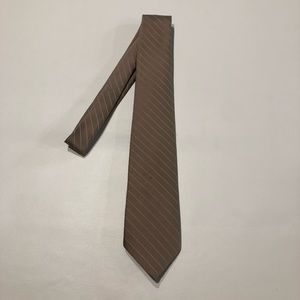 Vintage Oleg Cassini Men's Tie Tan White